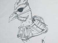 """Inktober day 5 submission - """"Chicken"""""""