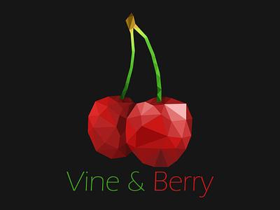 Daily Logo Challenge - Day 17 - Geometric lowpolyart lowpoly cherry digital dailylogo illustrator branding vector logo dailylogochallenge design illustration drawing