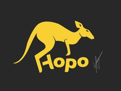 Daily Logo Challenge - Day 19 - Kangaroo kangaroo dailylogo illustrator branding vector logo dailylogochallenge design
