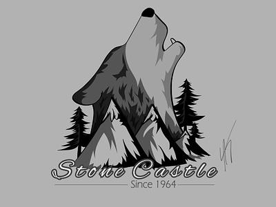 Daily Logo Challenge - Day 20 - National Park wolf national park dailylogo illustrator branding vector logo dailylogochallenge illustration design
