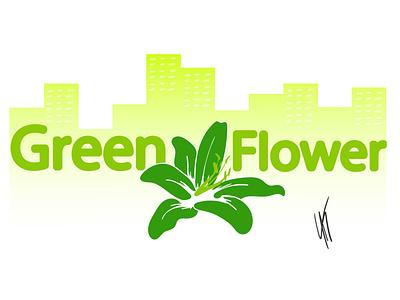 City Logo - GreenFlower city illustrator branding vector logo dailylogochallenge design