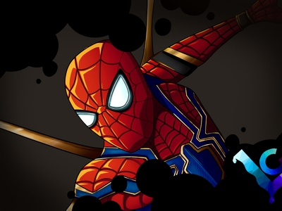 Iron Spider design artwork artist art illustrator infinity war infinitywar avengers iron spider spider man drawing illustration