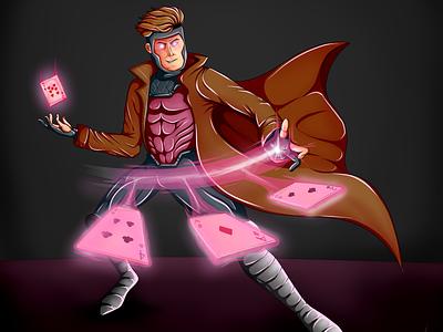 Marvel's X-Men - Gambit Speed Art pink youtube speedart superhero xmen gambit artwork artist art marvel drawing illustration
