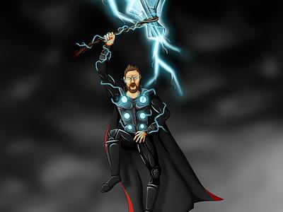Thor - Avengers Infinity War speedart youtube infinitywar avengers sketch art superhero marvel thor drawing illustration