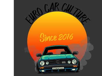 Logo for Euro Car Culture logo designer logo design car vw eurocarculture graphic designer graphic  design design logo