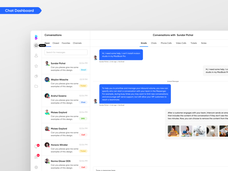 Chat Platform Dashboard Designed for a SaaS Company flat minimal dashboard customer support software inbox app web apps design live chat app live chat daily ui daily ui challenge product designs customer support chat inbox dashboard dashboard chat dashboard app web app chat app inbox chat product design