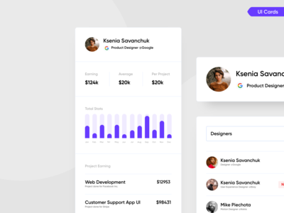 Web App (SaaS) Interface UI Cards website cards web app cards app cards ui cards digital resources dribbble interfacedesign uidesign uiuxdesign user interface interface uiux ui card 2020 trends live chat app live chat chat app analytics daily ui challenge daily ui