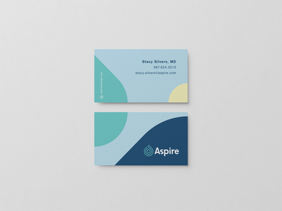 Aspire Business Card branding design logo allergy card business card businesscard