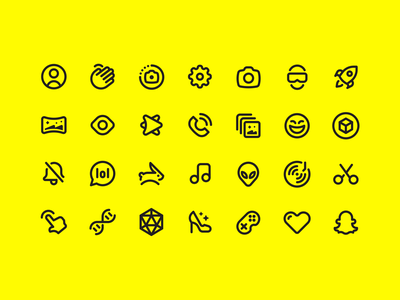 Snapchat Icons icon design ui icons app icon suite family iconography