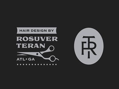 Rosuver Teran monogram letter mark logodesign monogram hair cut logo