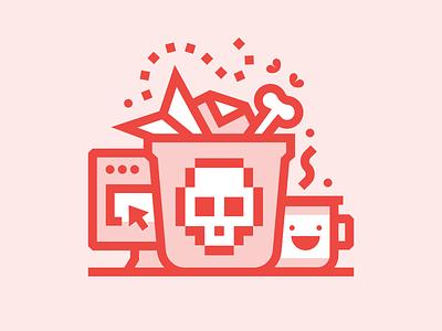 Unspam Conference unspam stink bone coffee trash skull marketing email spam