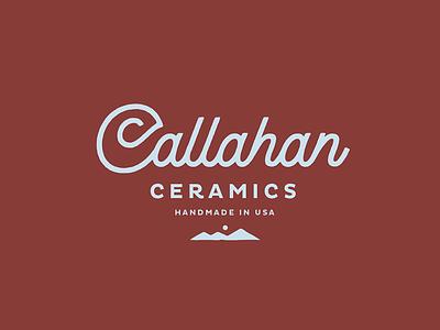 Callahan Ceramics II organic pottery mountains colorado ceramics logotype type script logo