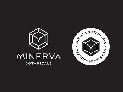 Minerva Botanicals mark hexagon logotype lockup botanicals goddess minerva logo hemp cbd