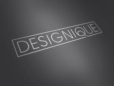 Designique Logo logo design logotype thin elegant