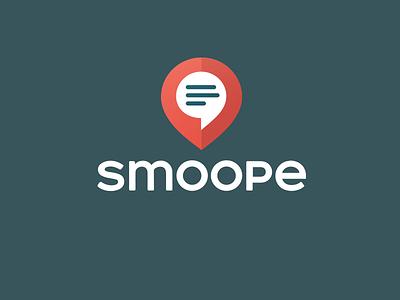Smoope Logo logo smoope messenger app pin local chat
