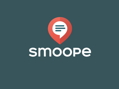 Smoope Logo logo smoope messenger app pin local chat