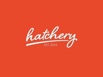 hatchery logo logo type lettering hatchery hatch