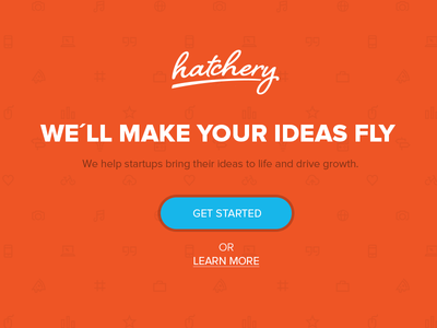 hatchery Landingpage hatchery startup ideas landingpage website pattern