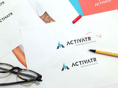 Activatr Branding thunder lightning activatr branding logo