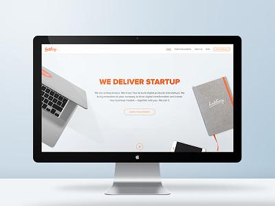 Our new website is here! landingpage webdesign startup desk website clean hatchery