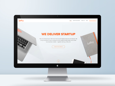Our new website is here! landingpage webdesign startup desk website clean hatchery