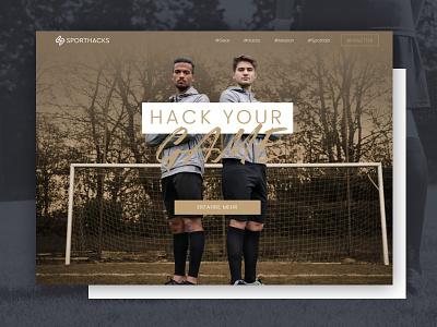 Sporthacks Website Redesign football soccer landingpage redesign website hacks sport