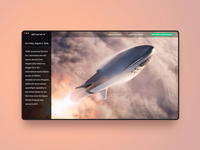 Home page concept for SpaceX