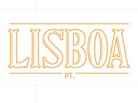 Travel lettering – Lisbon, Portugal