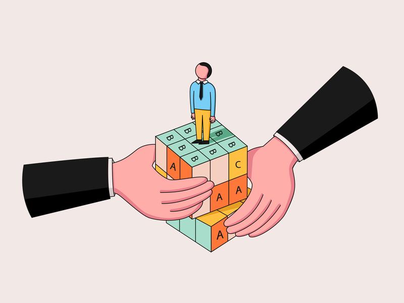 How Do I Manage a Just-OK Performer? success entrepreneur business management manager leadership design work business vector minimal illustrator illustration flat editorial illustration editorial