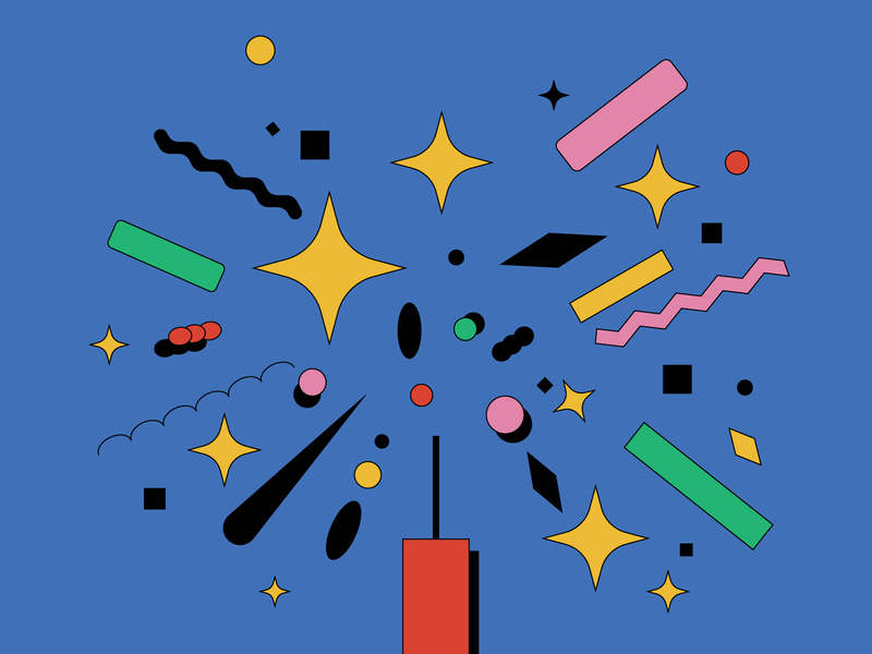 """Form Exploration about """"Bang!"""" clean art abstract 2d graphic graphic design shapes minimal elements star flat draw firework fireworks adobe illustrator graphics vector design illustrator illustration"""