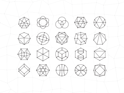Polycons icons interactive poly polygon geometry