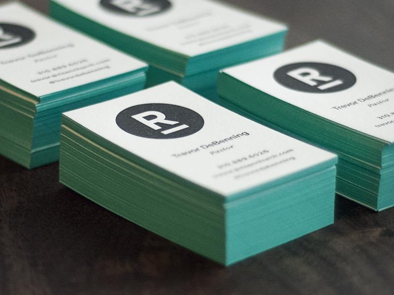 Risen Letterpress Cards cards letterpress business print brand branding logo stationary