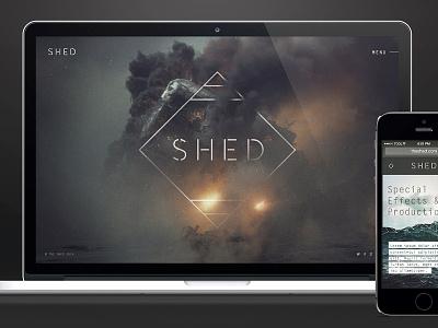 Tool Shed branding design interactive website mobile menu landing