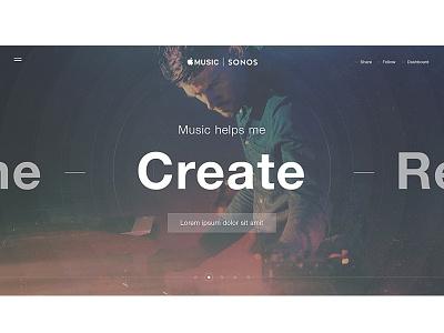 Create Music ux tumblr website interactive web design