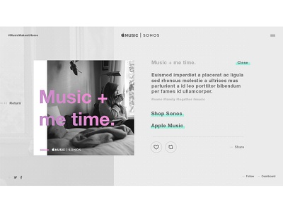 Music Detail ux tumblr website interactive web design