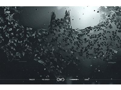 Batman Arkham VR Home vr art ui ux website webgl 3d design
