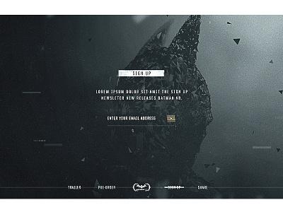 Batman Arkham VR Sign Up vr art ui ux website webgl 3d design