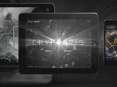 CRYPTAR1S Case webgl website interactive design future
