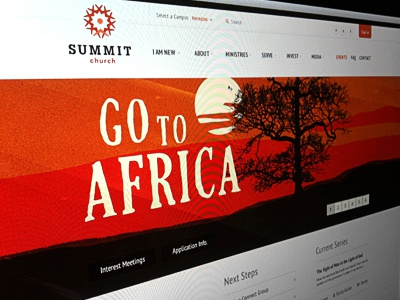 Summit Website web design ui website interface white redesign church