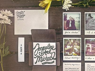 DIY Wedding Invites print design wedding invites antique photos polaroids shoes filters letterpress diy handmade