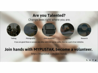 Social media post to promote become a volunteer
