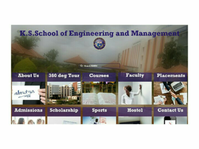 Landing page design of my college website