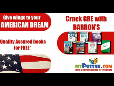 Facebook post for Barron's GRE books.