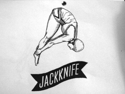 Jackknife Sketches: 5 sketch exploration custom typography simple illustration script jackknife portland oregon