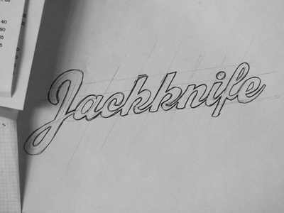 Jackknife Sketches: 8 - Script Concept sketch exploration custom typography simple illustration script jackknife portland oregon