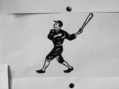Jackknife Sketches: Baseball sketch exploration custom typography simple illustration script jackknife portland oregon