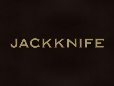 Jackknife Marks: Custom Copperplate logo simple bar jackknife portland oregon typography