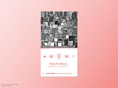 DailyUI 009: Music player interface design design ui design nada surf music dailyui009 dailyui 009