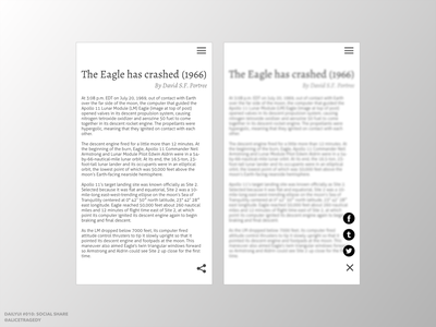 DailyUI 010: Social Share black and white minimalist design mobile app design dailyui010 dailyui 010