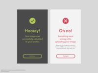 DailyUI 011: Flash message (Error/Success)